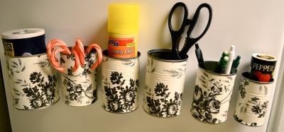 Tin Can Organizers on Cook Then Craft